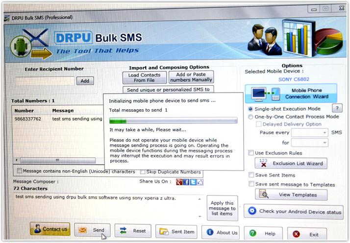 skrive sms fra pc