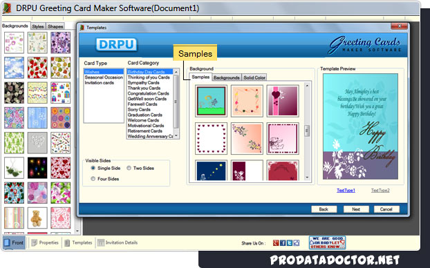 Greeting card maker software screenshots cards design program greeting card maker software m4hsunfo
