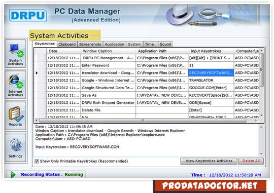 Computer monitoring software advanced | monitor PC keyboard